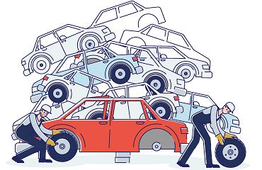 destruction vehicule angers